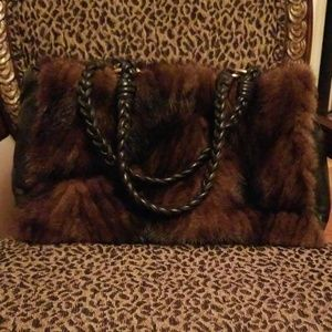Fur/Leather purse
